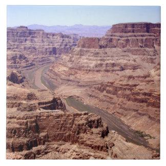 Vista del Gran Cañón, Arizona Azulejo Cuadrado Grande