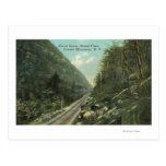 Vista del Gran Cañón y del clavo de Stoney Tarjetas Postales