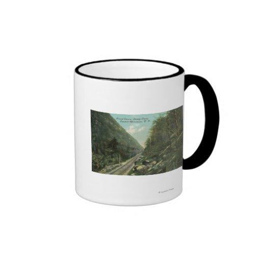 Vista del Gran Cañón y del clavo de Stoney Taza