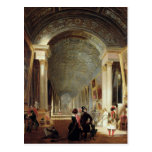 Vista del grande Galerie del Louvre, 1841 Tarjetas Postales