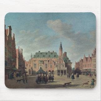 Vista del Grote Markt en Haarlem Tapetes De Ratones