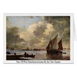 Vista del Haarlemmermeer en enero Van Goyen Tarjeta