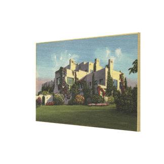 Vista del hogar de Herbert Hoover, Stanford U. Lienzo Envuelto Para Galerías