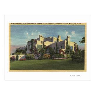 Vista del hogar de Herbert Hoover, Stanford U. Postal