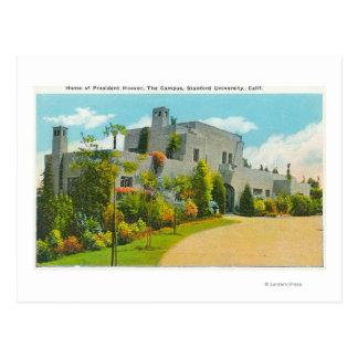 Vista del hogar de Hoover, campus de Stanford U Postal