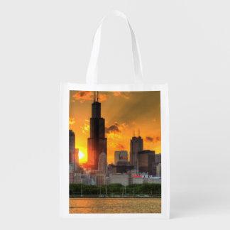 Vista del horizonte de Chicago de Adler Bolsa Para La Compra