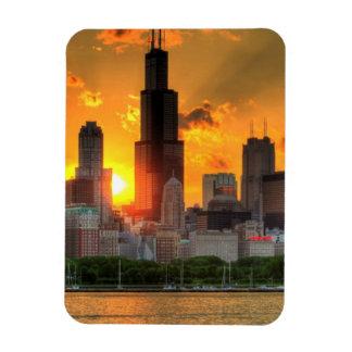 Vista del horizonte de Chicago de Adler Iman De Vinilo