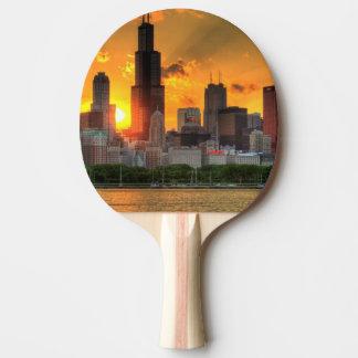 Vista del horizonte de Chicago de Adler Pala De Ping Pong