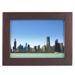 Vista del horizonte de Chicago por el lago Michiga Cajas De Recuerdos