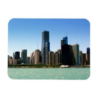 Vista del horizonte de Chicago por el lago Michiga Imanes De Vinilo