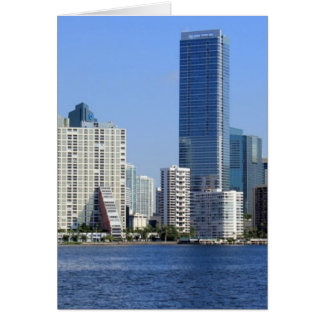 Vista del horizonte de Miami Felicitación