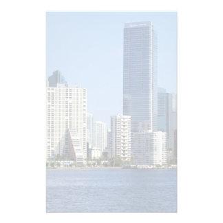 Vista del horizonte de Miami Papelería De Diseño