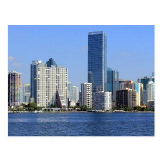 Vista del horizonte de Miami Tarjeta Postal