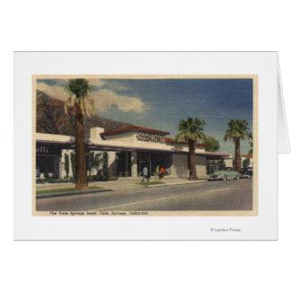 Vista del hotel del Palm Springs Tarjeta De Felicitación
