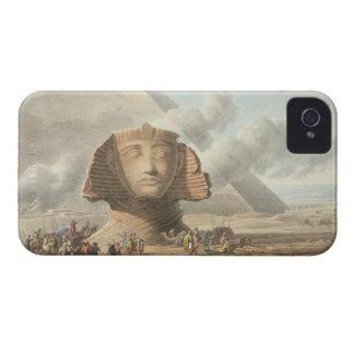 Vista del jefe de la esfinge y de la pirámide de iPhone 4 cárcasas