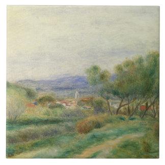 Vista del La Seyne, Provence, c.1890 (aceite en lo Azulejo Cuadrado Grande