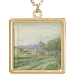 Vista del La Seyne, Provence, c.1890 (aceite en lo Colgante Cuadrado