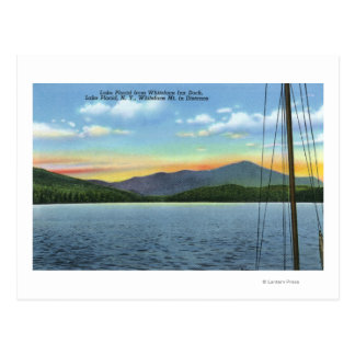 Vista del lago del muelle del mesón de Whiteface Tarjetas Postales