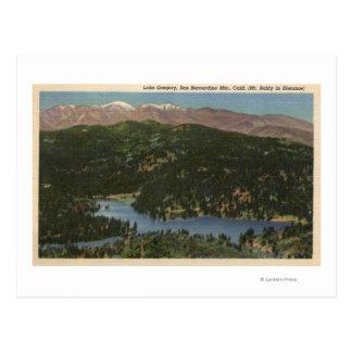 Vista del lago Gregory y San Bernardino Postal