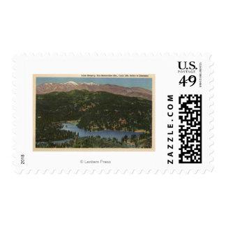 Vista del lago Gregory y San Bernardino Franqueo
