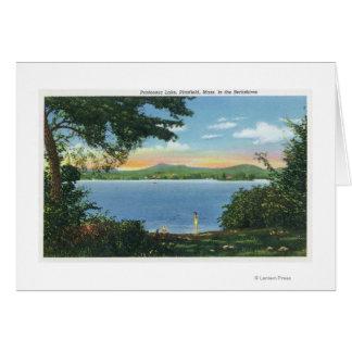 Vista del lago Pontoosuc Tarjeta De Felicitación
