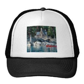 Vista del lago que ve en canoa Tahoe Gorras