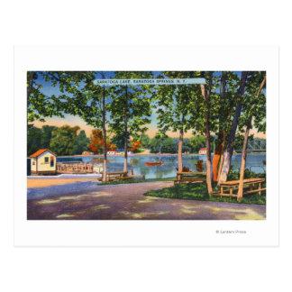 Vista del lago Saratoga Tarjetas Postales