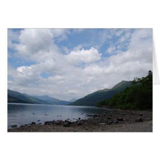 Vista del lago tarjetas