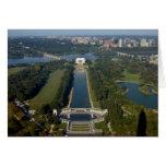 Vista del Lincoln memorial Felicitacion