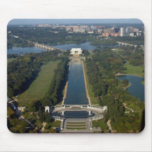 Vista del Lincoln memorial Tapete De Raton