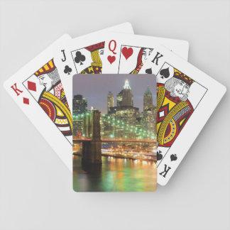 Vista del Lower Manhattan y del puente de Brooklyn Baraja De Póquer