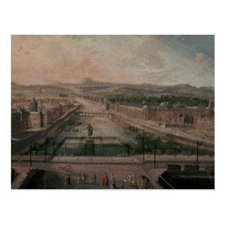 Vista del lugar Dauphine y el Sena Postal