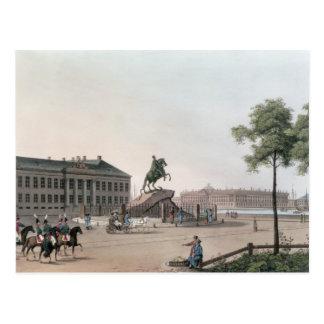 Vista del lugar de Peter el grande y el Senat Postal