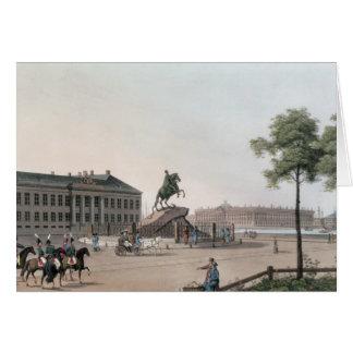 Vista del lugar de Peter el grande y el Senat Tarjeta De Felicitación