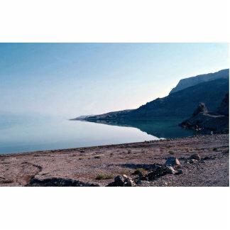 Vista del mar muerto del lado norte, Israel Fotoescultura Vertical