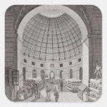 Vista del mercado del trigo y de la cúpula pegatinas cuadradases
