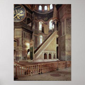 Vista del minbar, siglo VI Posters