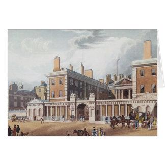Vista del Ministerio de marina, 1818 Tarjeta De Felicitación