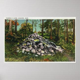 Vista del mojón de Thoreau Poster