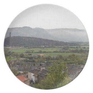 Vista del monumento de Wallace en Escocia