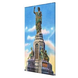Vista del monumento nacional a los antepasados de  impresiones de lienzo