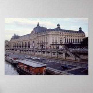 Vista del Musee d'Orsay del noroeste Posters