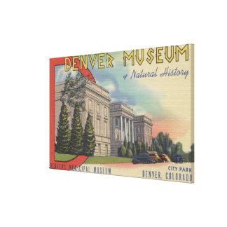 Vista del museo de Denver de la historia natural Impresiones De Lienzo