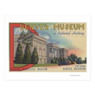 Vista del museo de Denver de la historia natural Postales