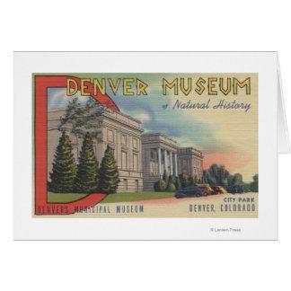 Vista del museo de Denver de la historia natural Tarjetas