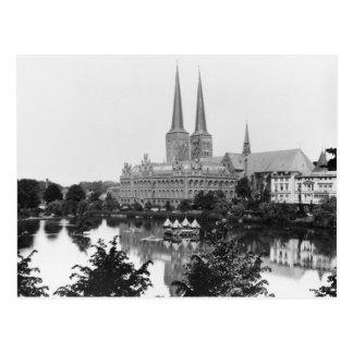 Vista del museo tarjeta postal