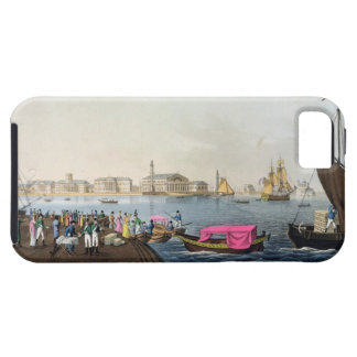 Vista del Neva, del puerto y del intercambio en iPhone 5 Fundas