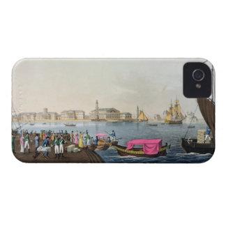 Vista del Neva, del puerto y del intercambio en Case-Mate iPhone 4 Coberturas