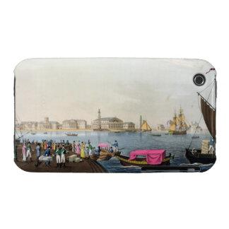 Vista del Neva, del puerto y del intercambio en iPhone 3 Protectores