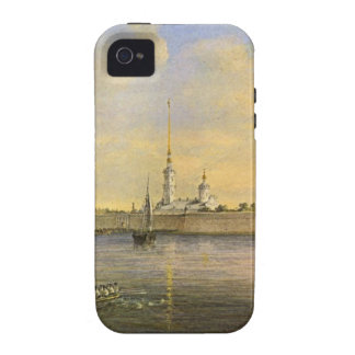 Vista del Neva y de la fortaleza de Peter y de Case-Mate iPhone 4 Funda